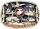 US Marine Corps (USMC) PEWTER BELT BUCKLE; MADE IN USA
