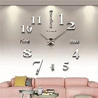 Modern Mute DIY Large 3D Black Wall Clock Wall Stickers Kitchen Home Wall Decor