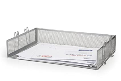 Amazon.com : 1InTheHome Silver Wire Mesh Stackable Letter Tray (1 ...