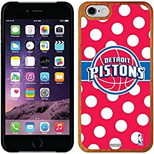 Coveroo iphone 5c Madera Wood Thinshield Case with Detroit Pistons Polka Dots Design