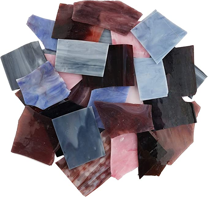 Amazon.com: Lanyani Stained Glass Scrap Pieces Sheets, Glass Mosaic Tiles for Crafts, 35oz Value Pack,Assorted Colors and Textures: Arts, Crafts & Sewing