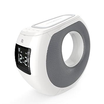 Docooler Nillkin MC1 BT Altavoz con QI Función de Carga inalámbrica NFC Emparejamiento LCD Tiempo Pantalla Despertador Carga USB para iPhone X iPhone ...