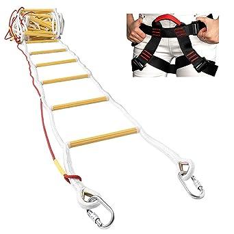 ISOP Escalera de Emergencia para Cuerda de Escape de Incendios para Casas de 3-4 Pisos -