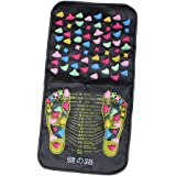 Fußreflexzonenmassage Fuß Massagegerät Spaziergang Stein Bein Massiert Fußmatten Matte Mat, für zu Hause Fußpflege, Badezimmer