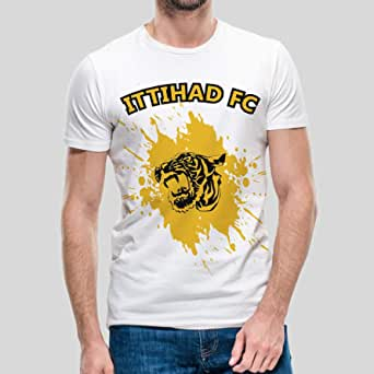 kharbashat al-Ittihad Club T-Shirt for Men, Size XL - White