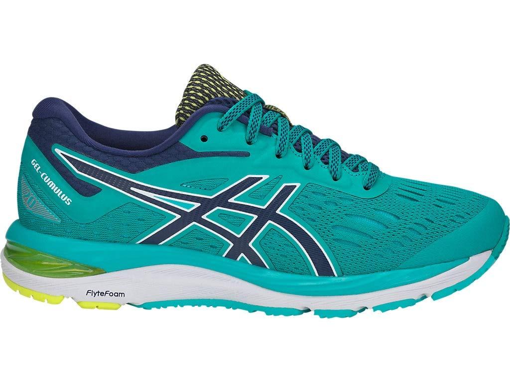 ASICS Women's Gel-Cumulus 20 Running Shoes, 5M, SEA Glass/Indigo Blue