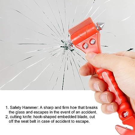 Dandelionsky 4 Stück Auto Sicherheitshammer Sicherheitsgurt Schneider Anti Rutsch Notfall Fensterbrecher Rettung Auto Sicherheitshammer Kit Auto