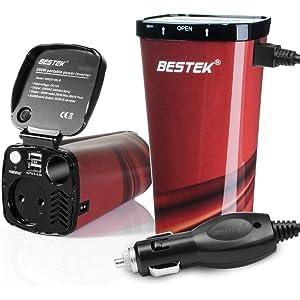 Inversor De Corriente 200W 12V A 220V para Coche Cargador De Energía con 2 USB Puertos