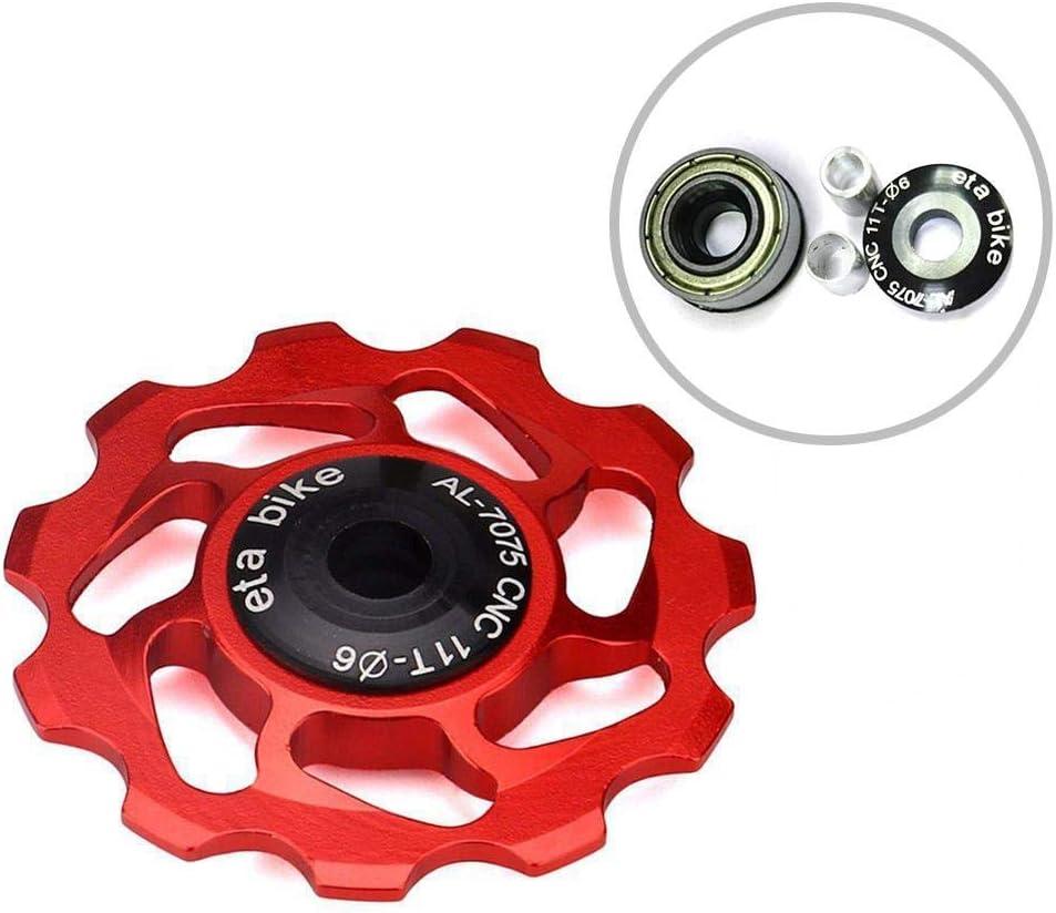 Homewind Kettenrad Führungsrad Aus Aluminiumlegierung Für Umwerfer Und Umlenkrolle Durchmesser 45 Mm 11 Zähne Cnc Stützrad Umwerferrolle Rot Sport Freizeit