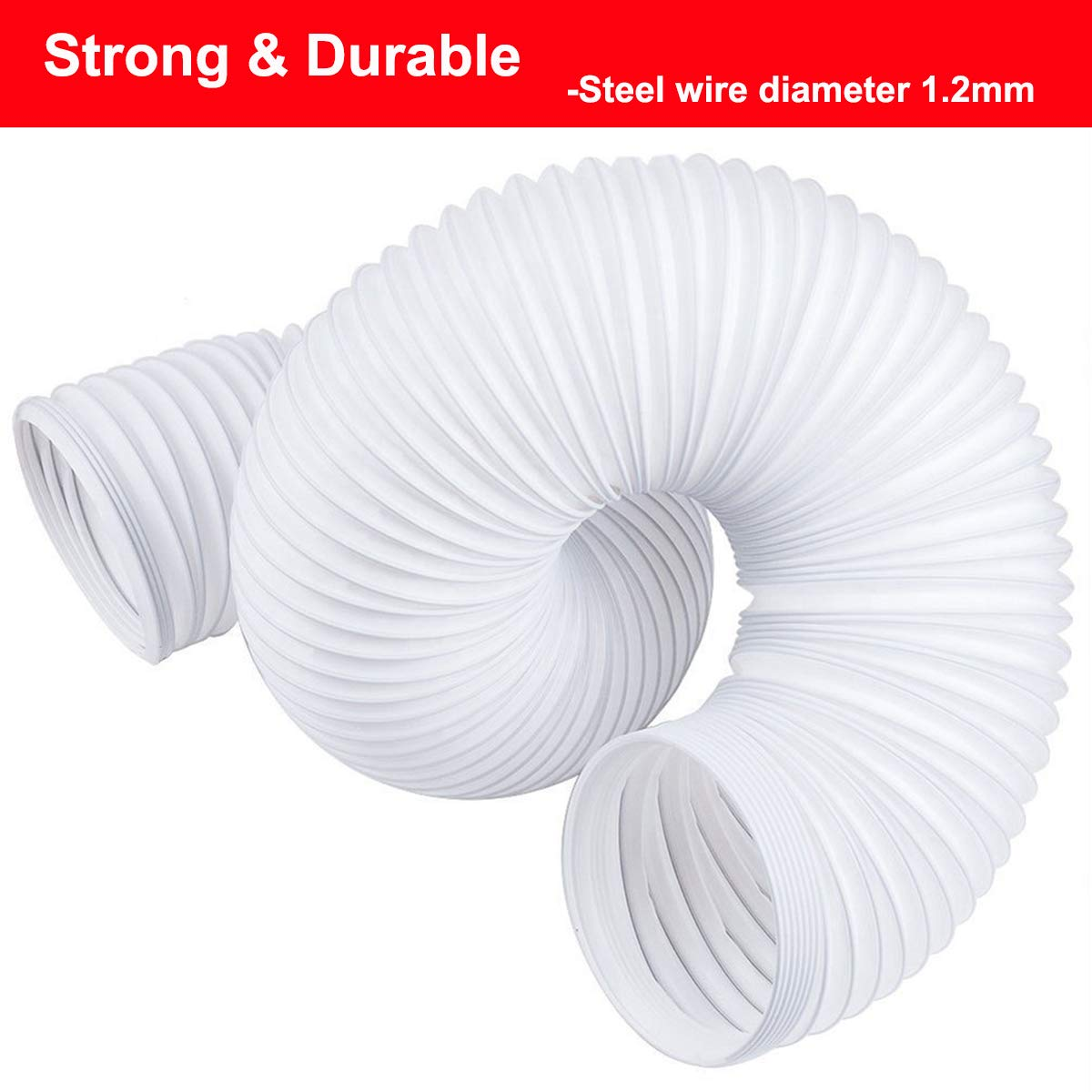 Welsoon 5.9 inch Diameter Extra Long Portable Air Conditioner Exhaust Hose 79 inch Length Counterclockwise Vent Hose 5.9inch Diameter//15CM