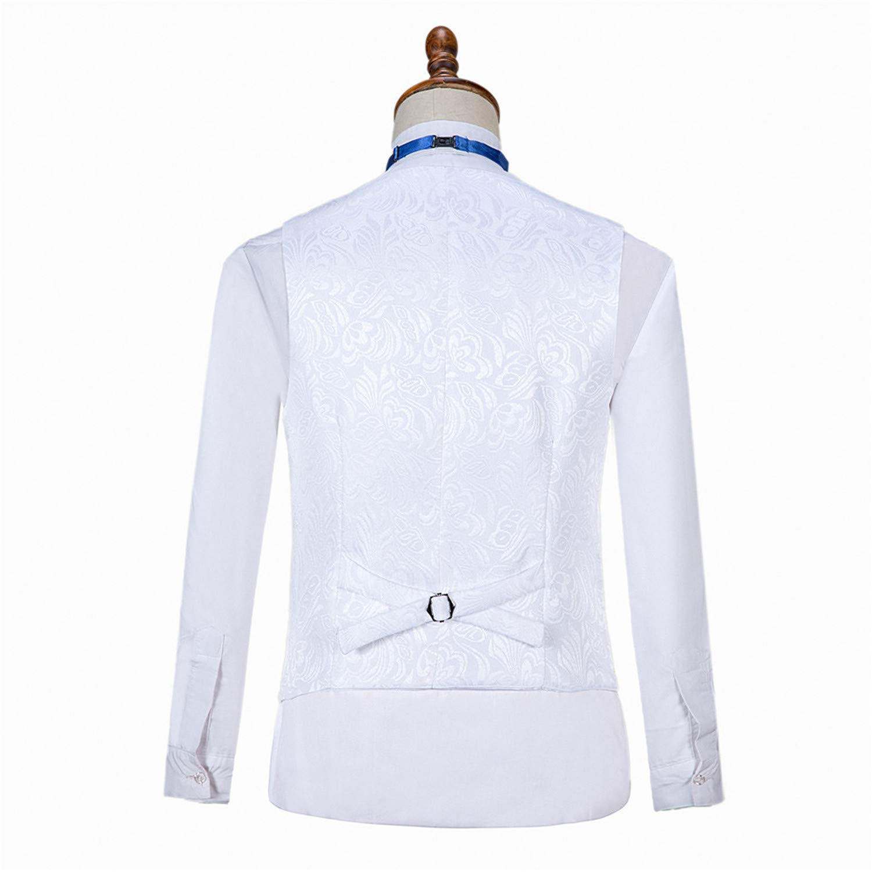 Gwenhwyfar Mens 3 Piece Tribal Printed Tux Elegant Jacket Trouser Suit Set