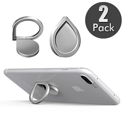 ba4783ceb3b 2x Leathlux Ring Stand Holder, 2 Piezas Soporte de Phone Dedo Anillo  Soporte Anti-Drop 360 Rotation Water-Drop para iPhone X / 6S Plus / 7 Plus,  Samsung ...