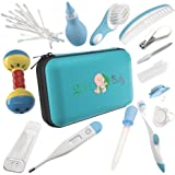 Baby Grooming Kit - 100% Safe Health Care Pack | Made from High-Grade Stainless Steel & BPA-Free Plastic | Nursery Essential Set for Babies | Includes Infant Comb, Nail Clipper (Blue)