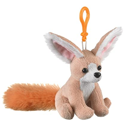 9d806a0c531 Amazon.com  Fennec Fox Plush Backpack Clip Toy Keychain 5.5 Stuffed ...