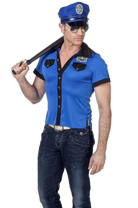 shoperama Policía y Camiseta de Sombrero para Hombre en ...