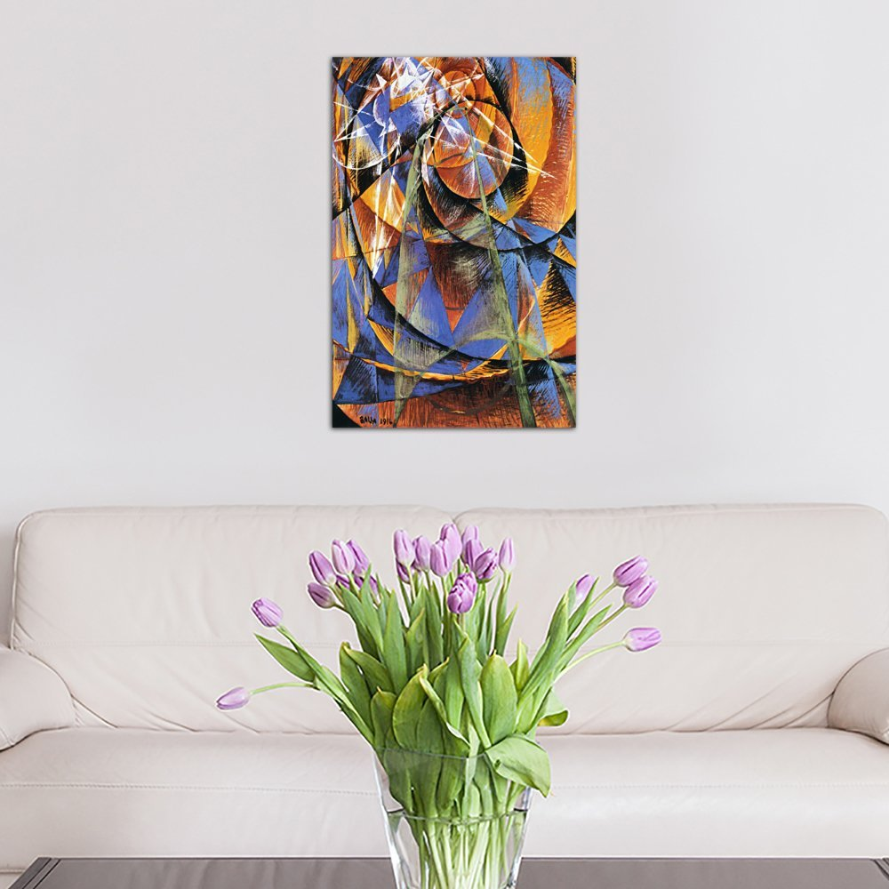 60 x 40//1.5 Depth iCanvasART 3 Piece Planet Mercury Passing in Front of The Sun Canvas Print by Giacomo Balla