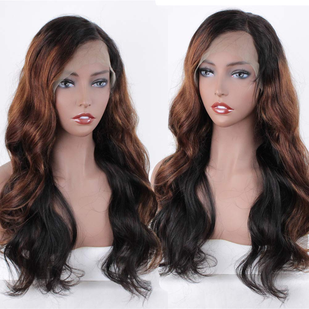 ZANA Ombre Human Hair Wigs Body Wave Ombre
