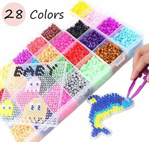 Perler 80-17602 Beads Brights n Stripes Mini Bead Tray