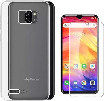 QFSM 1 Pcs HD Película Protectora Cristal Templado Pantalla para Ulefone Note 7 2019 Smartphone + 1 Pcs Transparente Funda para Ulefone Note 7 2019 Silicona Carcasa TPU Case Cover-Clear: Amazon.es: Electrónica