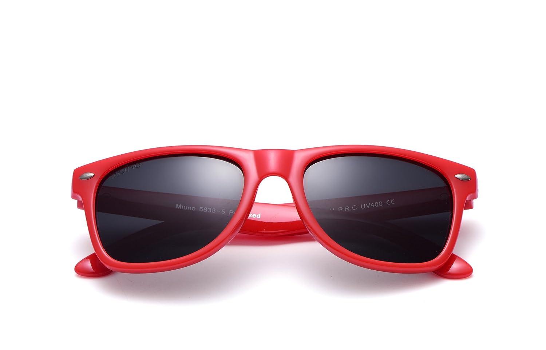 Miuno/® childrens polarised sunglasses polarised wayfare for boys and girls case 6833A