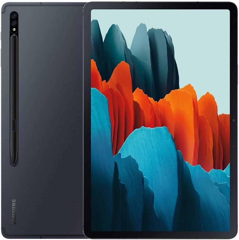 Samsung Galaxy Tab S7+ Plus w/S Pen (128GB, 6GB RAM) 12.4'', Snapdragon 865+, 10090mAh Battery Wi-Fi Tablet - US Warranty SM-T970 (128GB SD Bundle, Mystic Black)