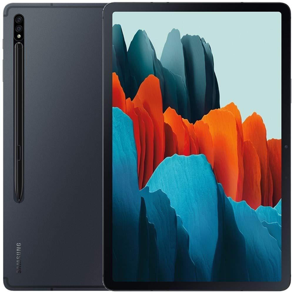 Samsung Galaxy Tab S7+ Plus w/S Pen (256GB, 8GB RAM) 12.4'', Snapdragon 865+, 10090mAh Battery Wi-Fi Tablet - SM-T970 (64GB SD Bundle, Mystic Black)