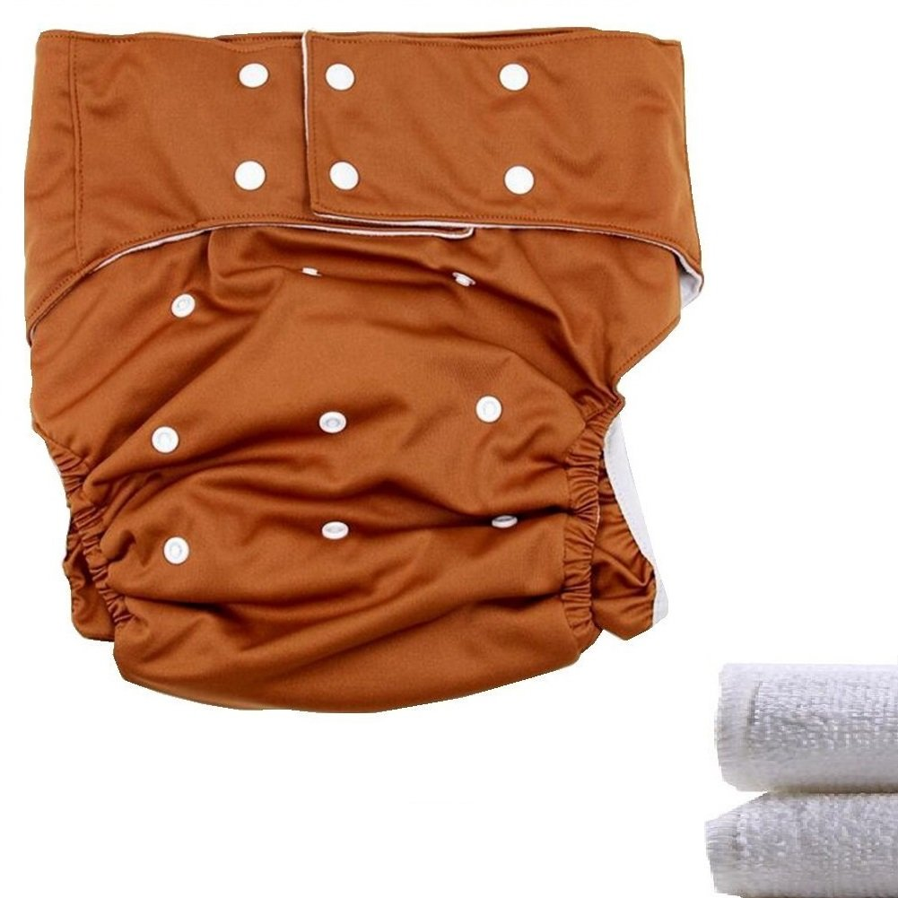 LukLoy - Teen / Adults Cloth Diapers Nappy with 2pcs Inserts for Incontinence Care -Dual Opening Pocket Washable Adjustable Reusable Leakfree (Black) Shenzhen M-Home Co. Ltd W-D1322