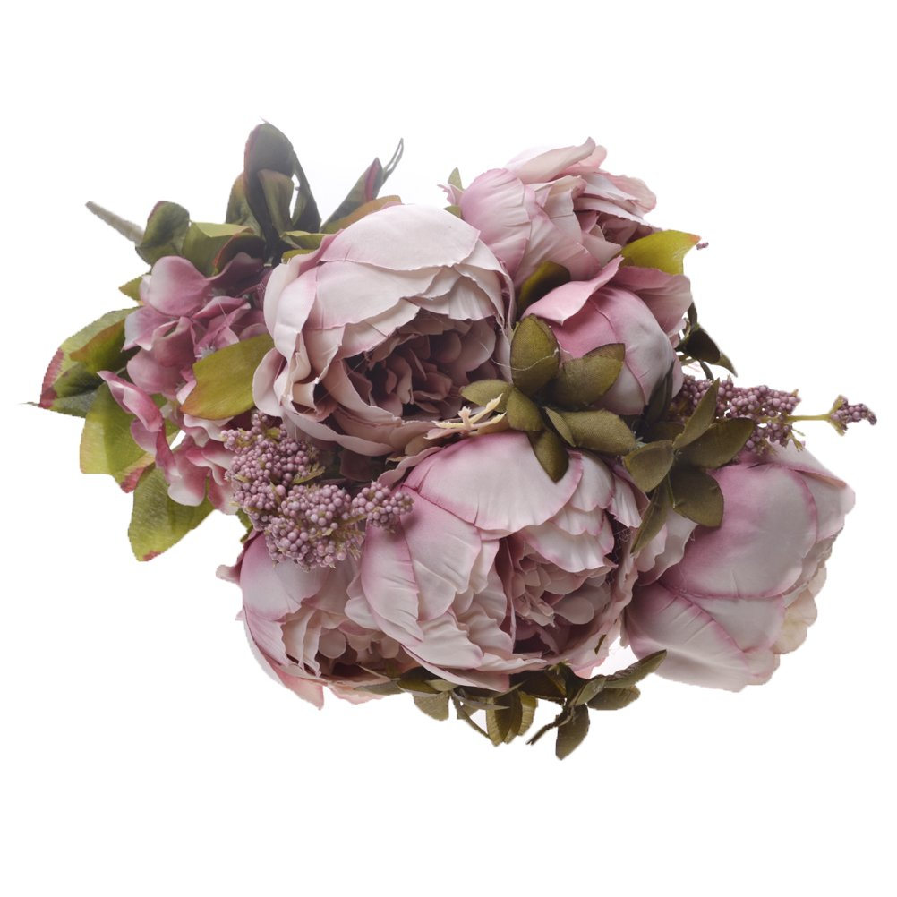 Amazon Sunshinetrees Artificial Peony Silk Flowers Bouquet