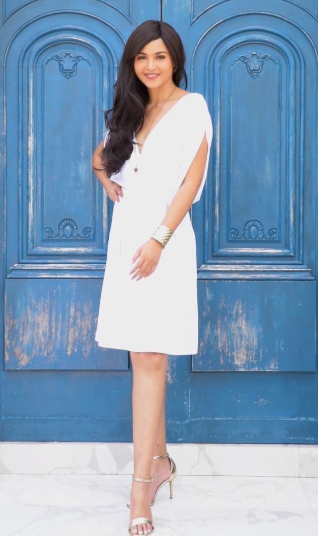 KOH KOH Womens V-Neck Short Sleeve Flowy Work Knee Length Day Midi Dress