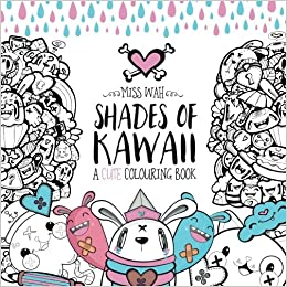Kawaii Coloriage Livre.Amazon Fr Shades Of Kawaii A Cute Colouring Book Miss