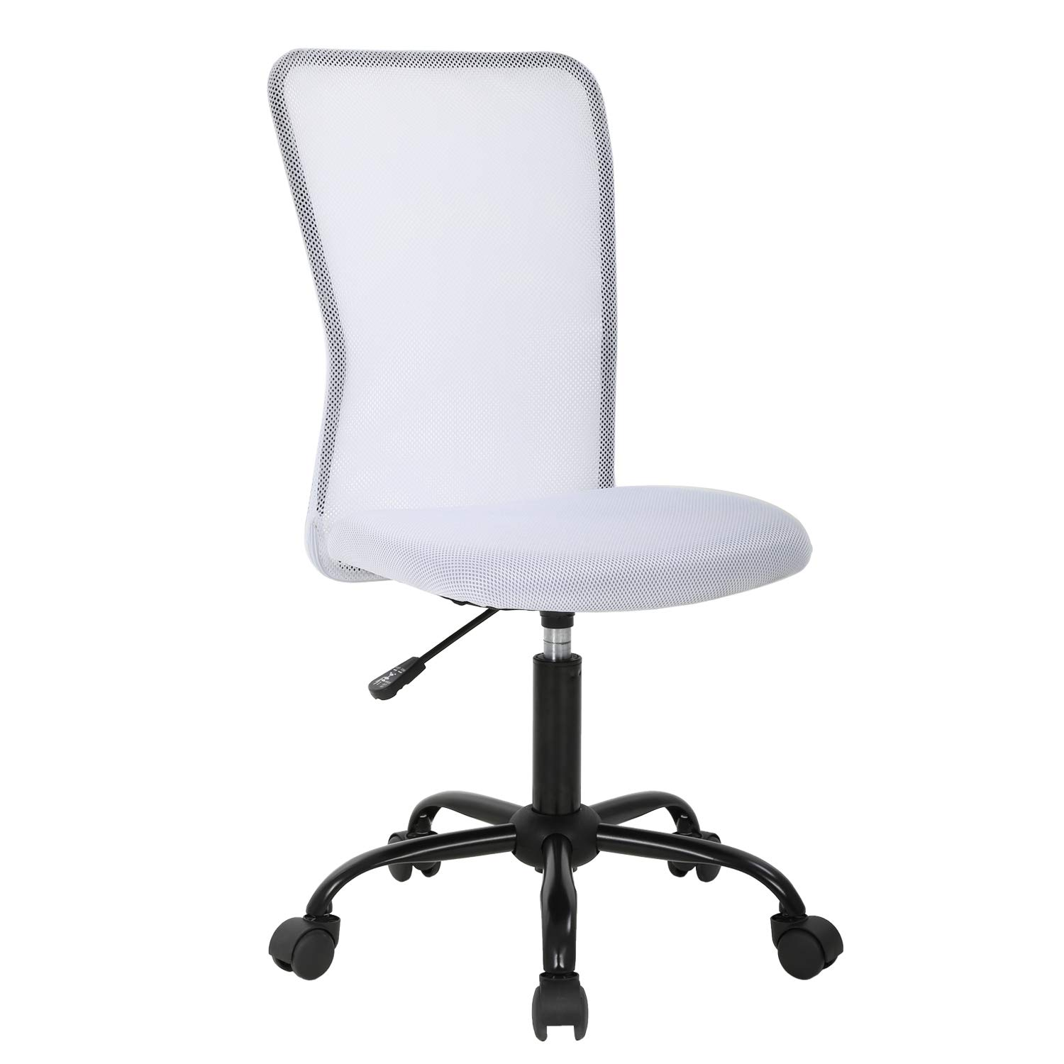 Ergonomic Office Chair Desk Chair Mesh Computer Chair Back Support Modern Executive Mid Back Rolling Swivel Chair for Women, Men (White) by BestOffice