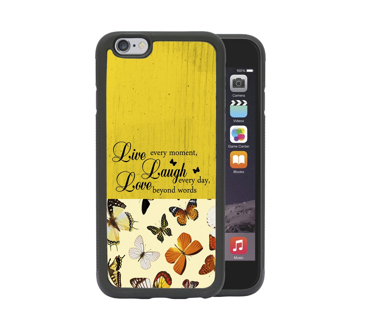 buy popular 84fdf 11b1a Amazon.com: IPHONE 6 - Live Laugh Love Inspirational Quote ...