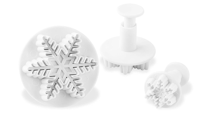 5,5/x 5,5/cm Plata pl/ástico Dr Juego de 3 Oetker  Copo de Nieve de Navidad Cutter