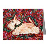 CafePress - Wheaten Scottish Terrier On Red Note Cards (Pk Of - Blank Note Cards (Pack of 20) Matte
