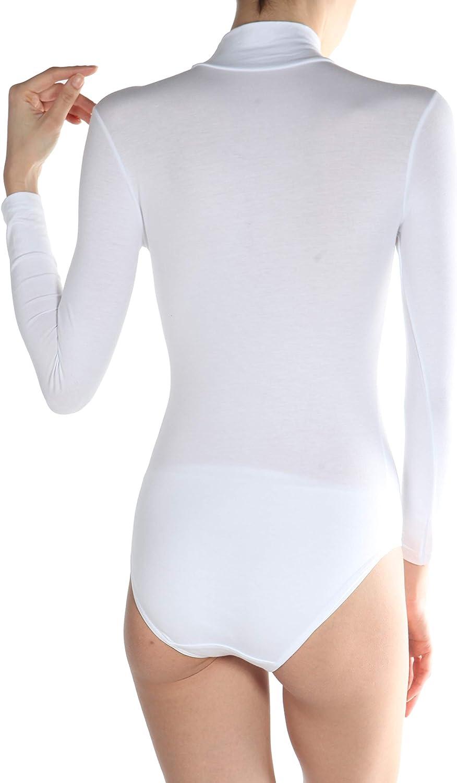 Body Manga Larga de Modal Cuello Alto