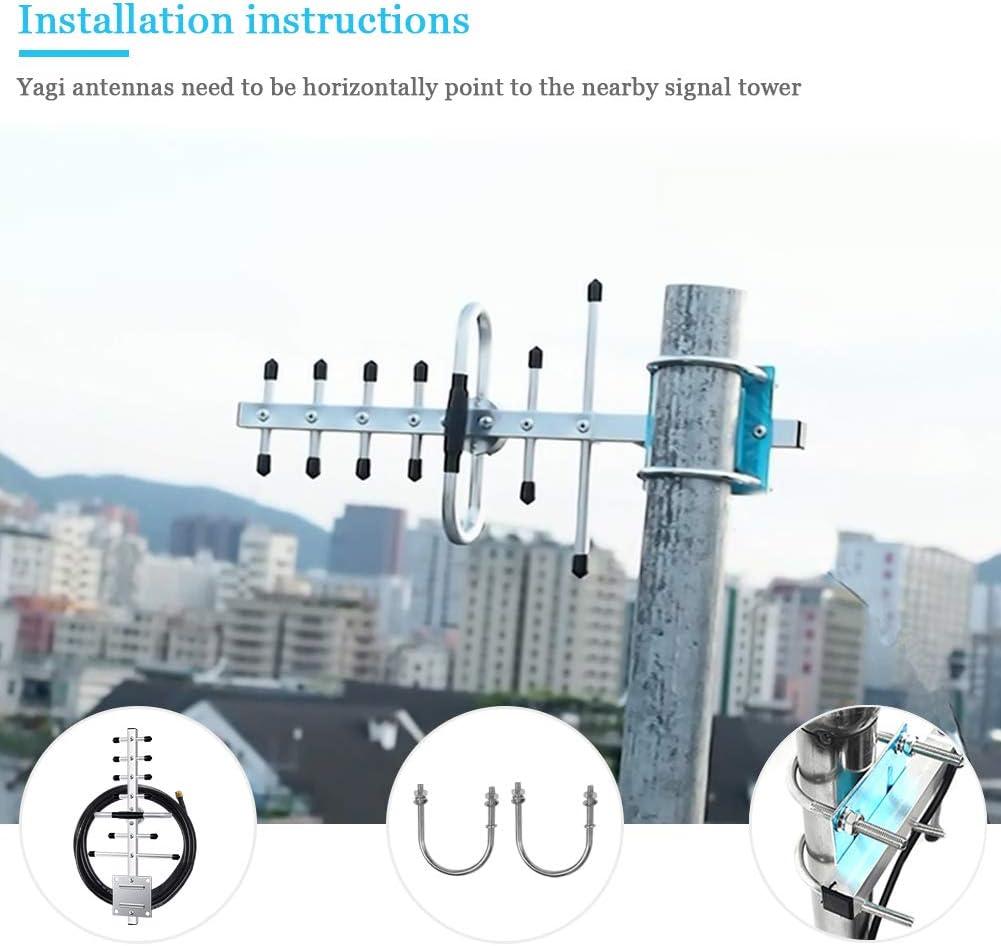 ORPEY 7/9dBi Yagi Antena de Banda Ancha Direccional Antena 806-960/1710-2170 MHz SMA Macho Direccional Teléfono Celular señal Amplificador Modem con ...