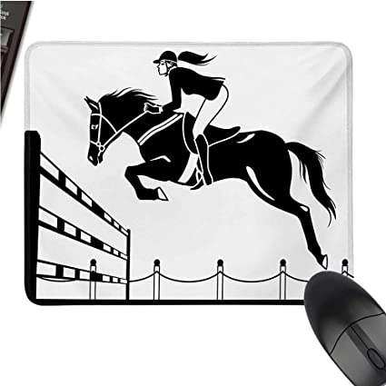 Amazon com : Cartooncomputer Mouse padRacing Horse with a Jockey