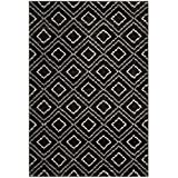 Safavieh TUN293F-4 Tunisia Collection and Cream Area Rug, 4′ x 6′, Anthracite Review