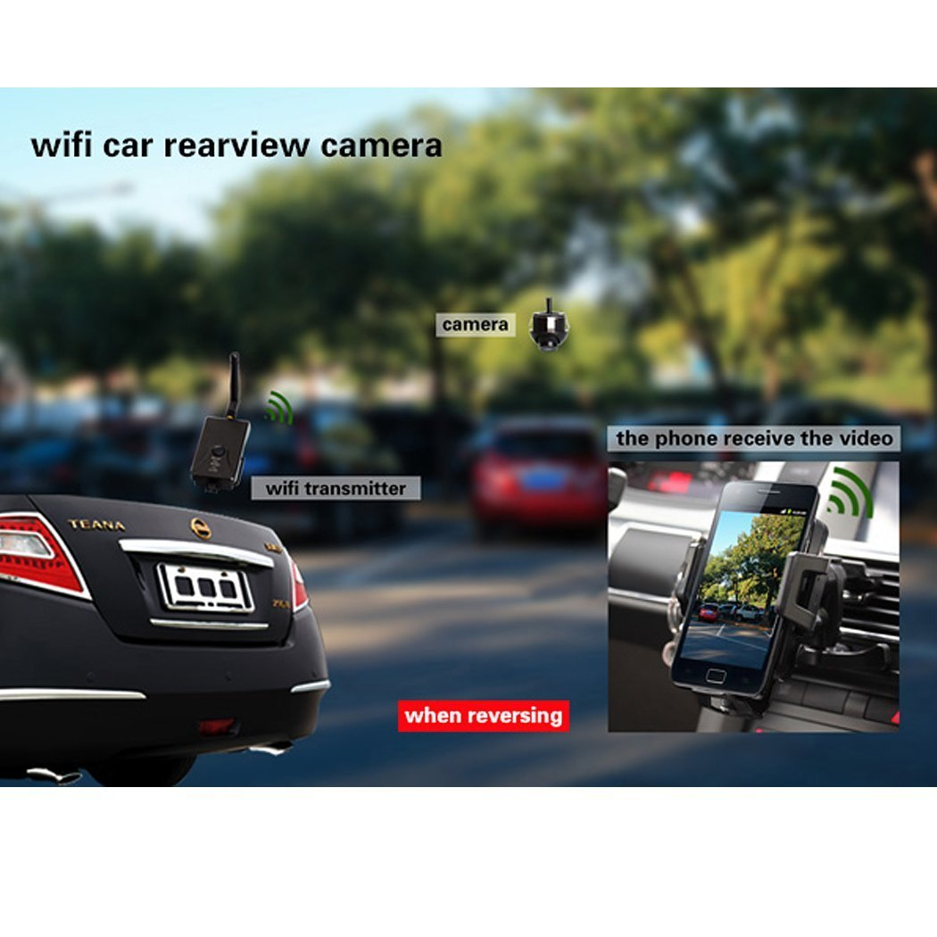 Ipad Android System IOS APP BW 30fps Wifi Car Camera Transmitter Wifi Video Transmitter Transmission for Car Reverse Bakup Camera Cctv Compatible For Iphone