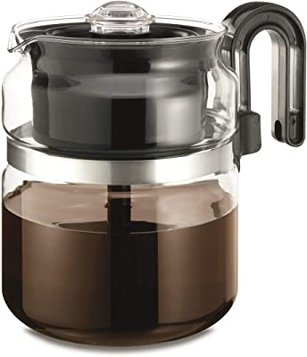 Stovetop Percolator Coffee Pot, Glass, 8 cup