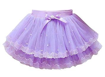 24station [C] Falda de tutú para niña Falda de Princesa de Tul ...