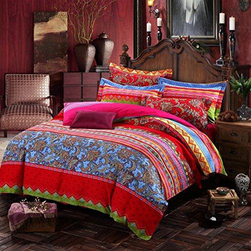 lelva boho style bedding set bohemian ethnic style bedding set boho duvet cover set camel. Black Bedroom Furniture Sets. Home Design Ideas