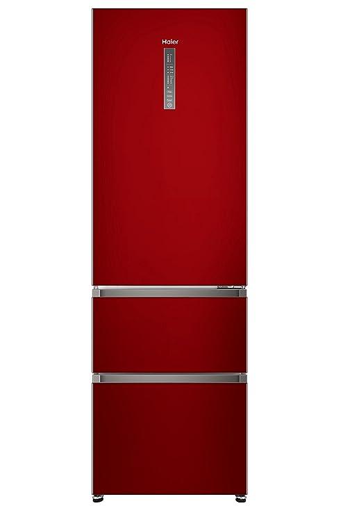 Haier A3FE-735CRJ nevera y congelador Independiente Rojo 330 L A++ ...