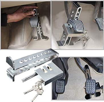 Anti-Theft Device StainlessSteel Clutch Lock Car Brake Strong Security Lock Tool