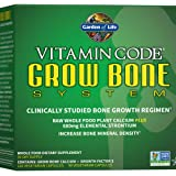 Garden of Life Raw Calcium Supplement - Grow Bone System Whole Food Vitamin with Strontium, Vegetarian