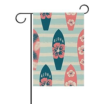 DragonSwordlinsu Bandera de poliéster para Jardín, Diseño de Tabla de Surf Coosun, para Decoración