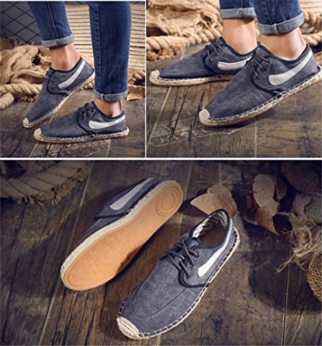 Drving Grey Canvas Sneaker Shoes 24XOmx55S99 Casual Outdoor Mens qTfWqwBX