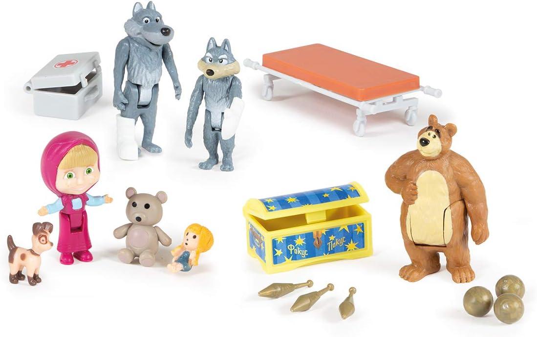 Simba Toys 109309863 masha playset ambulanza con accessori