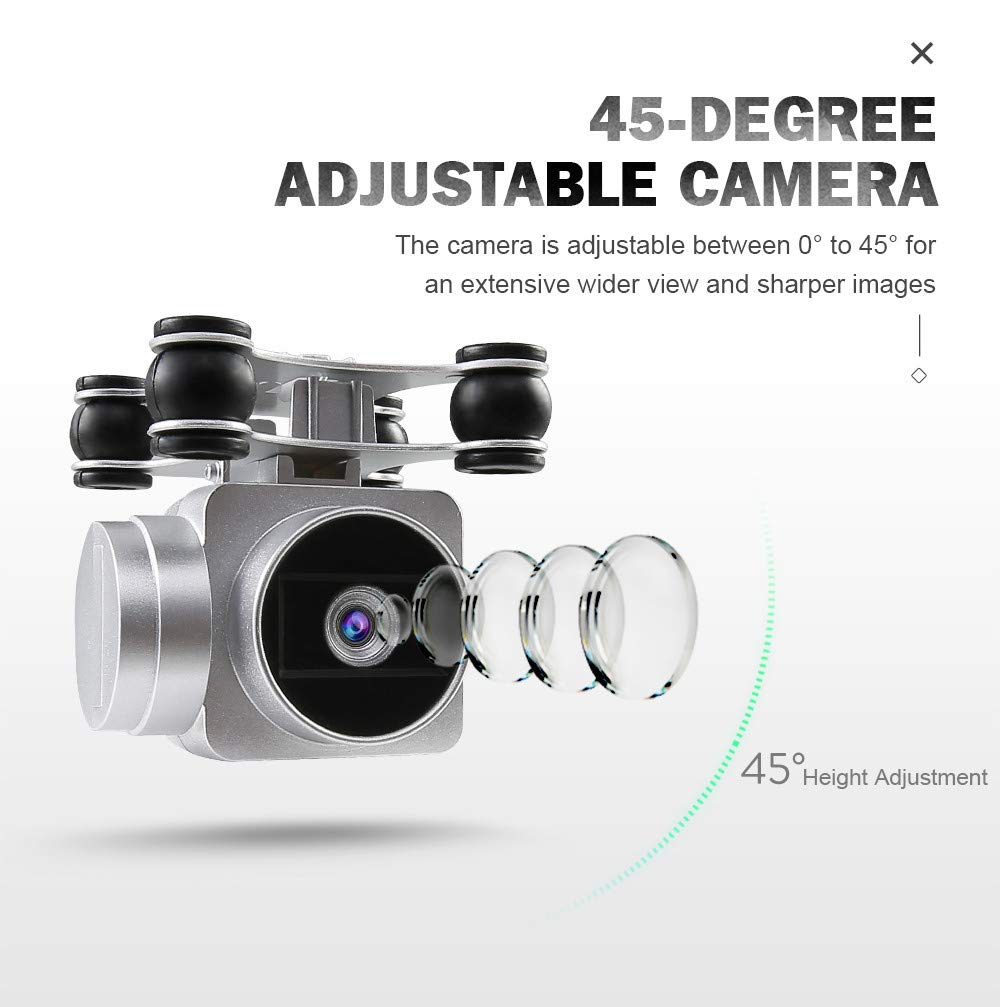 Chartsea Quadcopter Drone with Camera Live Video, JJRC H68 Wide Angle Lens 720P HD Camera WiFi FPV RC Drone (White) by Chartsea (Image #9)