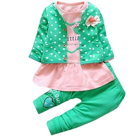 Ropa de bebé, egmy Cute Kids bebé niñas disfraz con lazo de ...